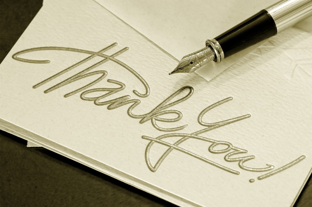 Testimonials and thank you notes