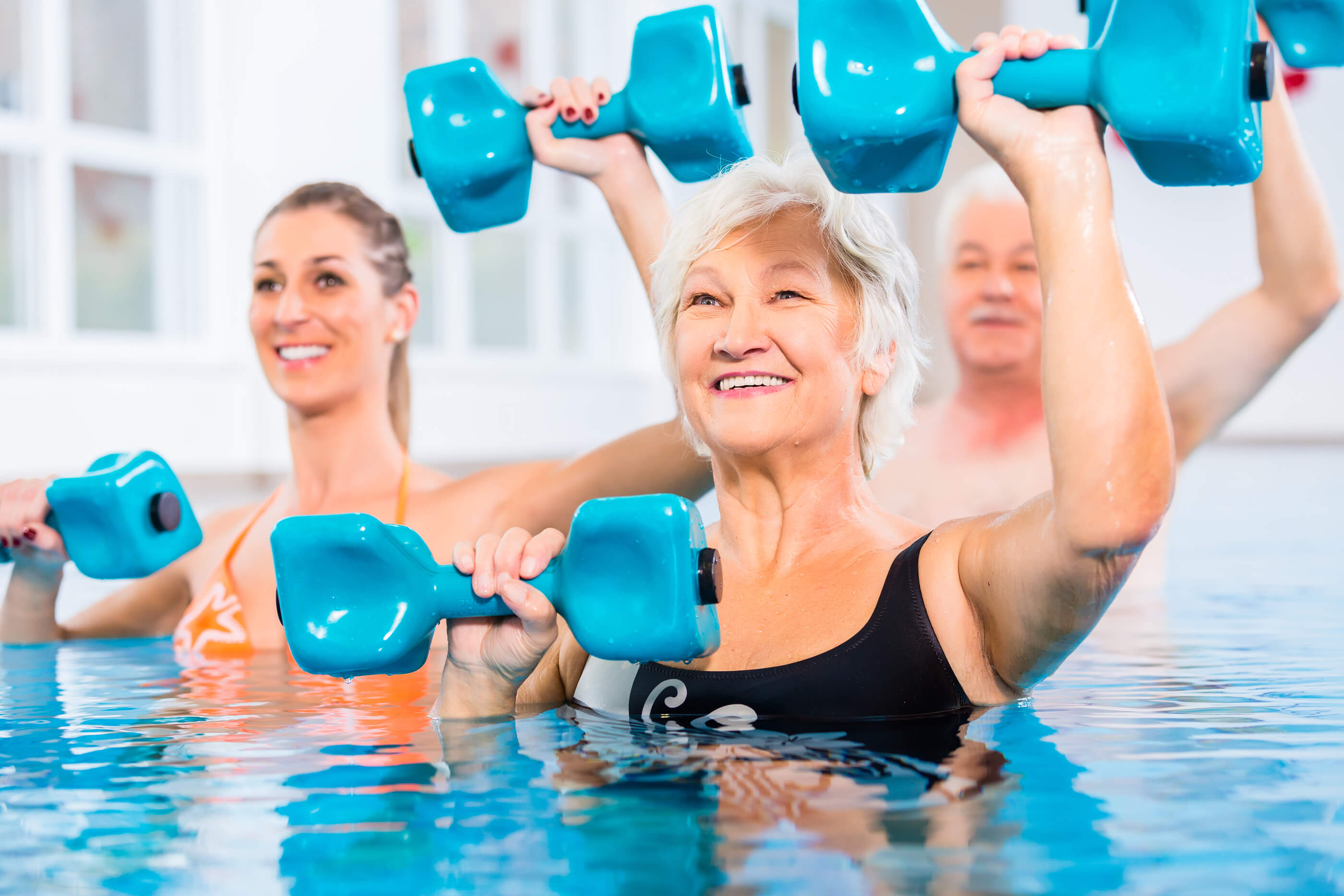 Stay Fit Take A Senior Swim Aerobics Class Pioneer